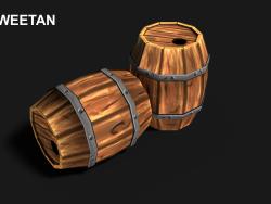 3D Barrel Model with texture
