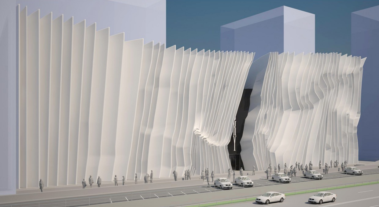 Boutique, Facades bargaining. center, office building facades, teen room, office manager  in  3d max   vray  image