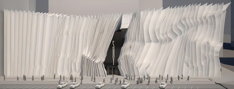 imagen de Boutique, la negociación Fachadas. centro, fachadas de edificios de oficinas, sala de adolescentes, director de la oficina en 3d max vray