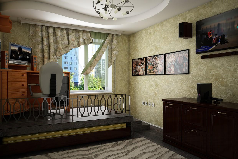 Room in odnushke in 3d max vray 3.0 image