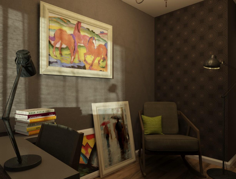 imagen de Oficina en casa en 3d max vray