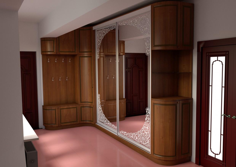 Hallway in Blender cycless render image