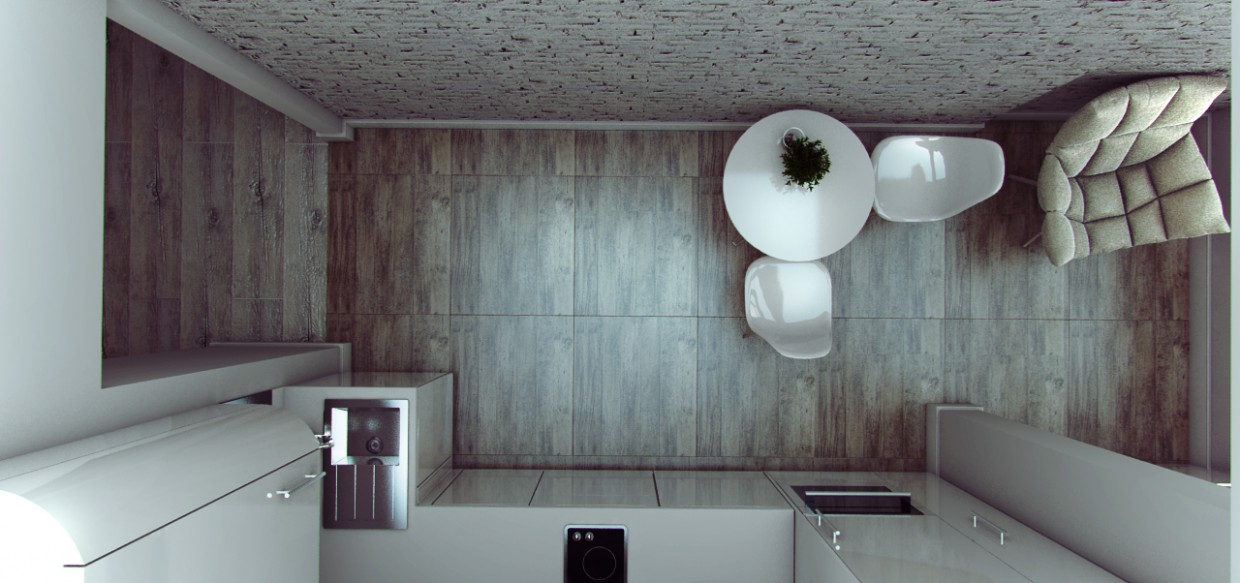 3d visualization of the project in the kitchen Other thing, render vray of Ксюша Аксенова