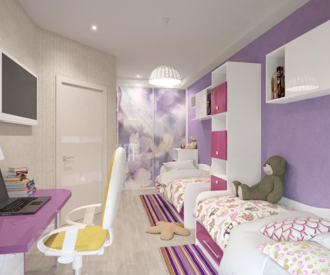 Дитяча кімната в 3d max corona render зображення