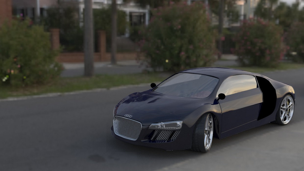 3d visualization of the project in the Audi R8 3d max, render vray of Rakesh