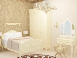 Класичний крем і золото спальня