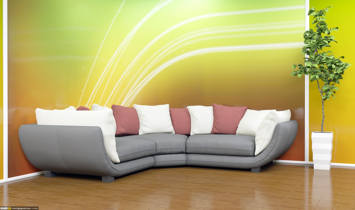 Sofa viz with corona in 3d max Other image