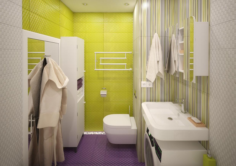 Ванна кімната дизайн в 3d max vray 3.0 зображення