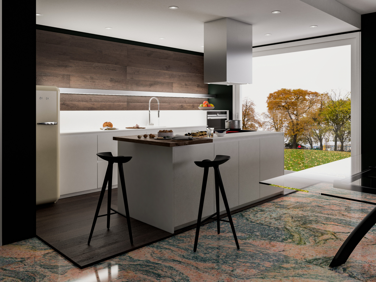 Ricky kitchen in 3d max vray 3.0 image