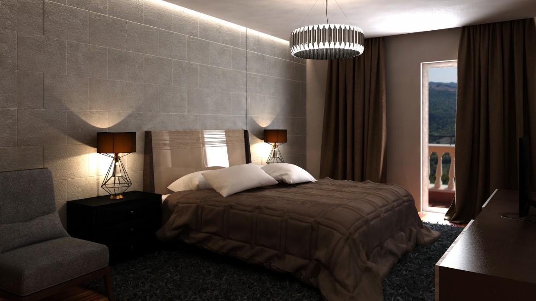 отель в 3d max vray изображение