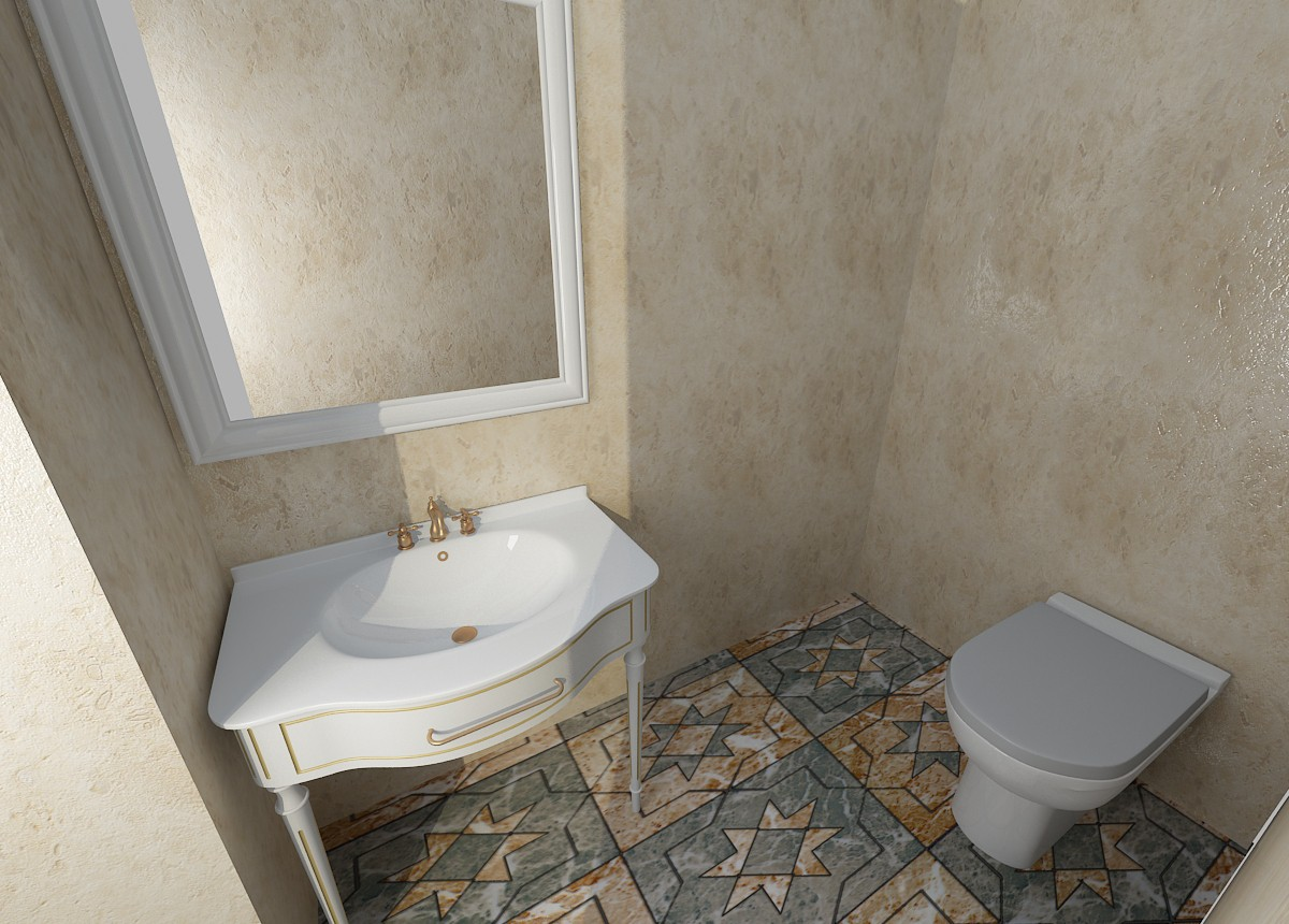 3d visualization of the project in the bathroom 3d max, render vray of sasha1988-1988