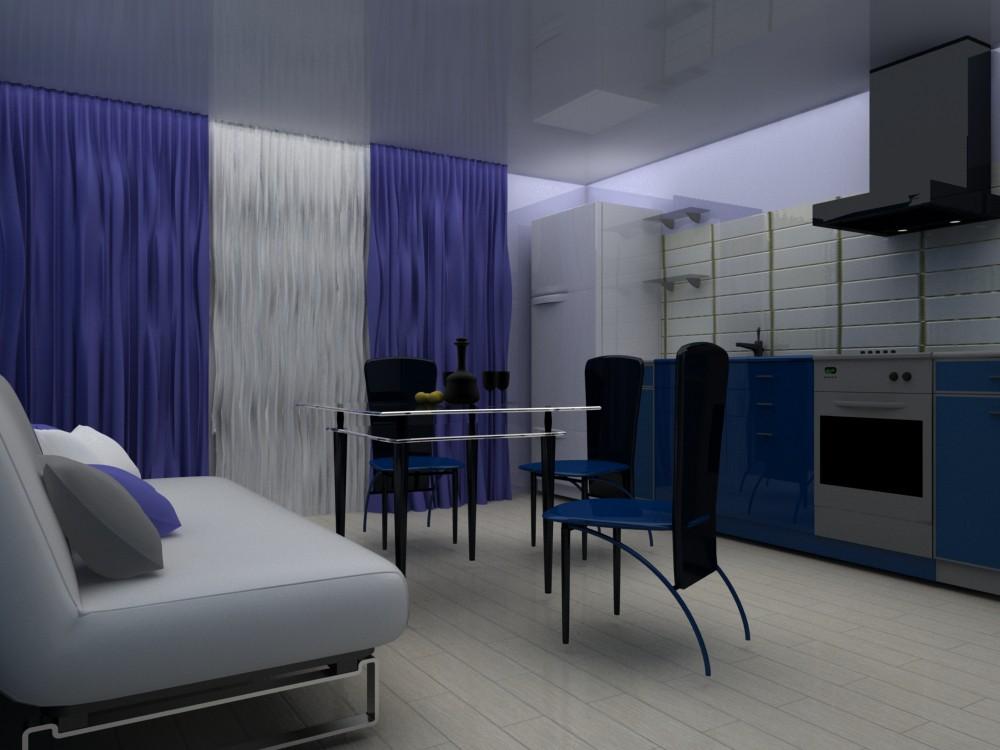 imagen de Apartamento de 1 habitación en 3d max vray