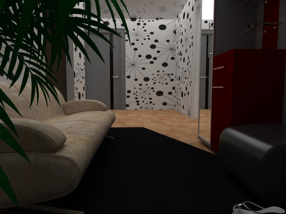 1 room apartment in 3d max vray image