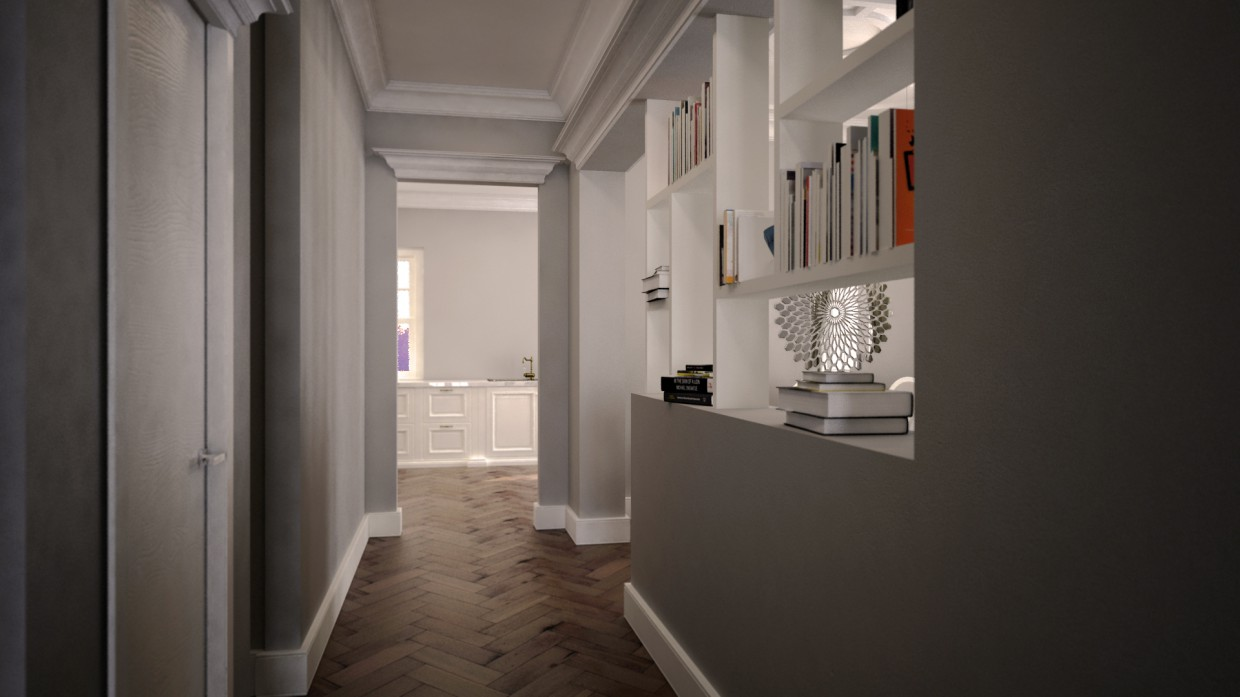 3d visualization of the project in the home 3d max, render vray of endri