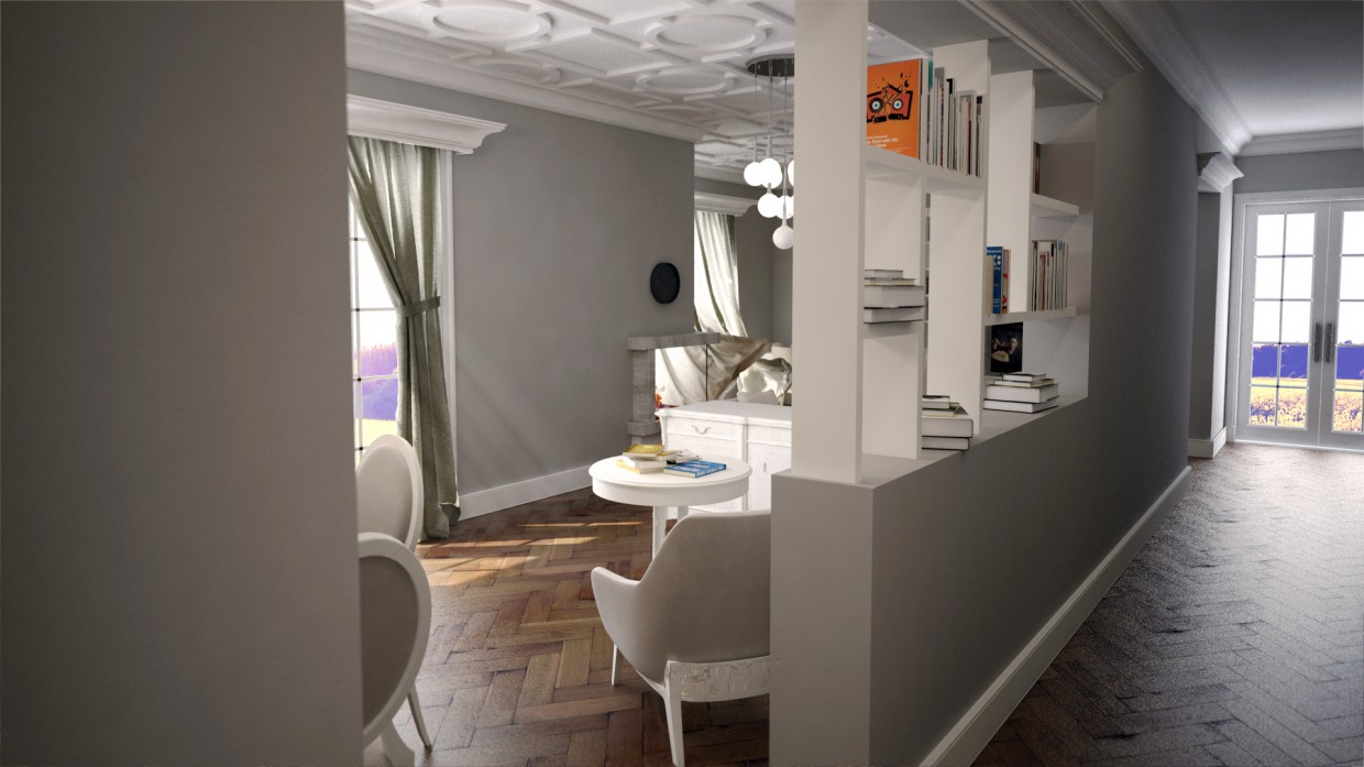 Home in 3d max vray image