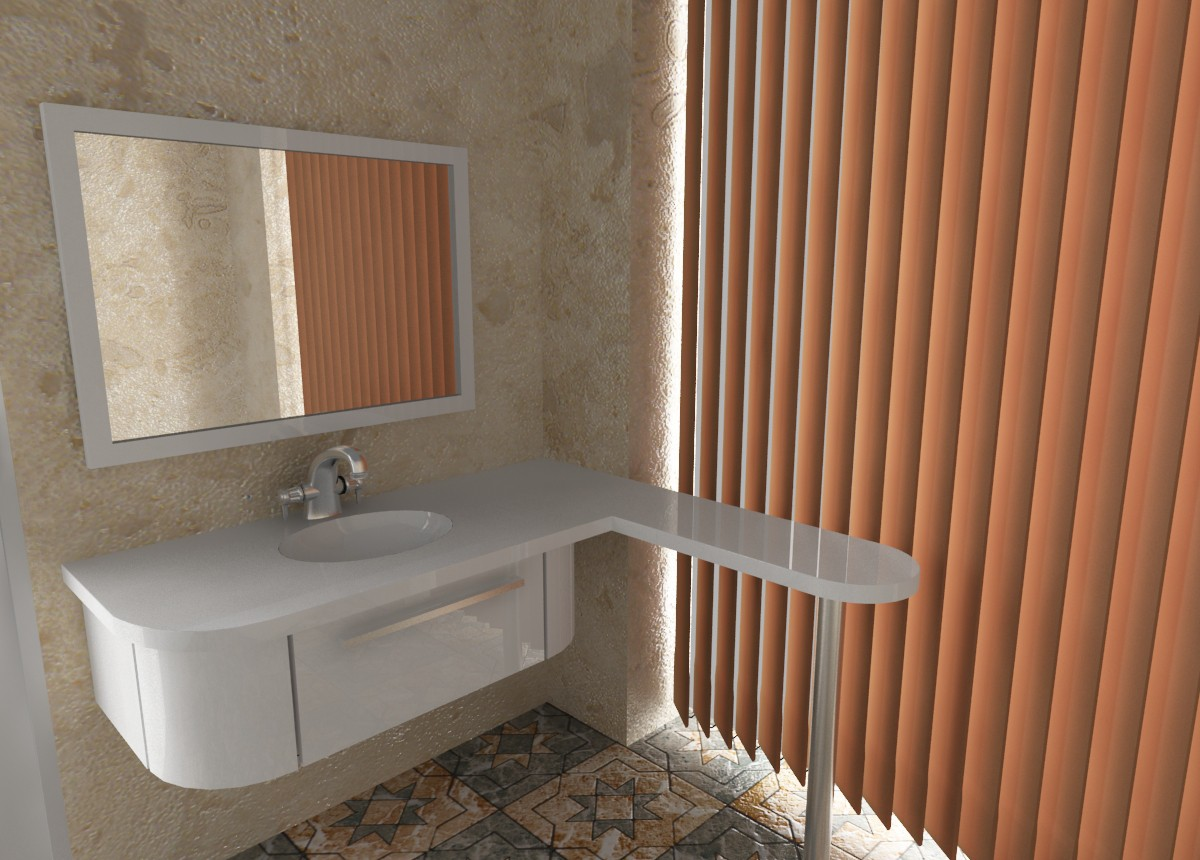 3d visualization of the project in the bathroom 2 3d max, render vray of sasha1988-1988