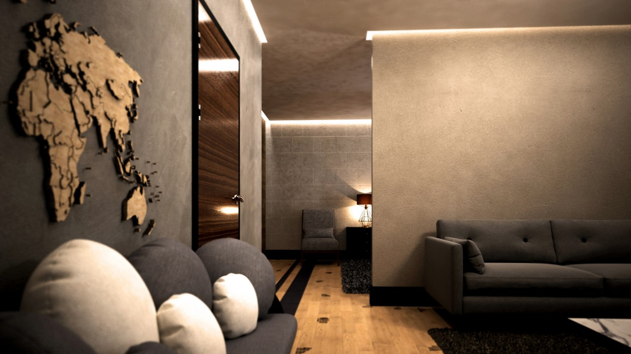 Hotel suit in 3d max vray image