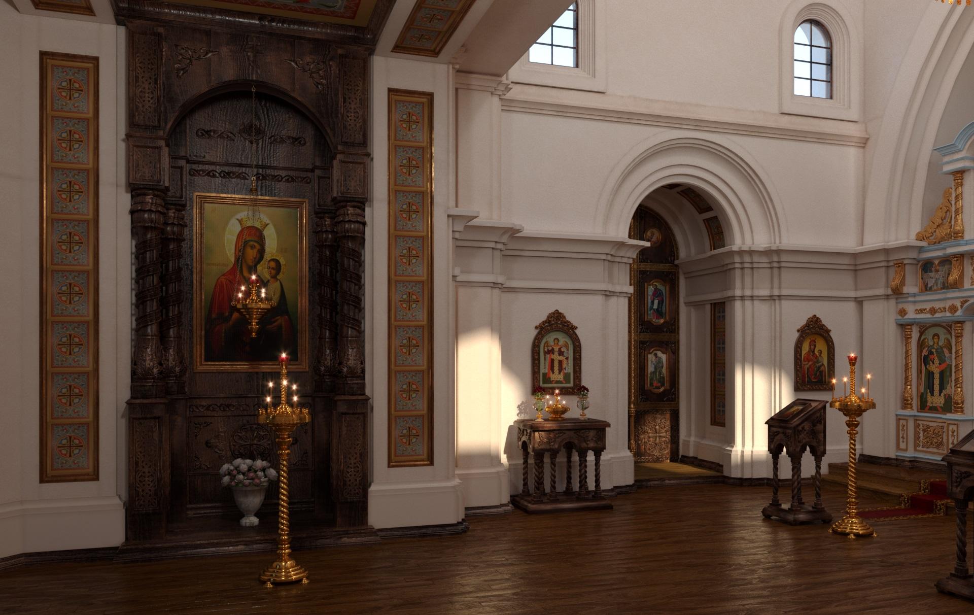 Iconostasis in 3d max corona render image