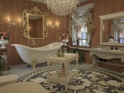 ванная комната в стиле ампир. 3Ds Max/Vray