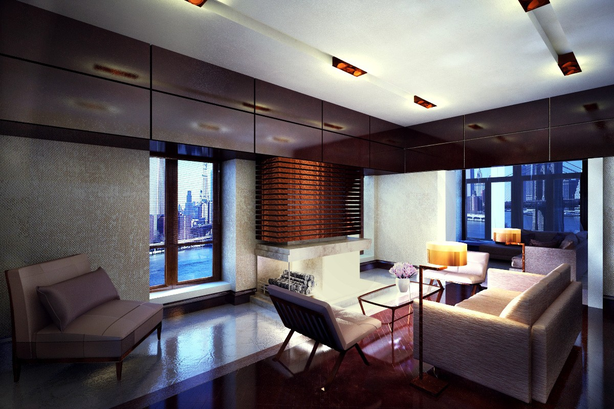 Living room in modern style in 3d max vray 2.0 image