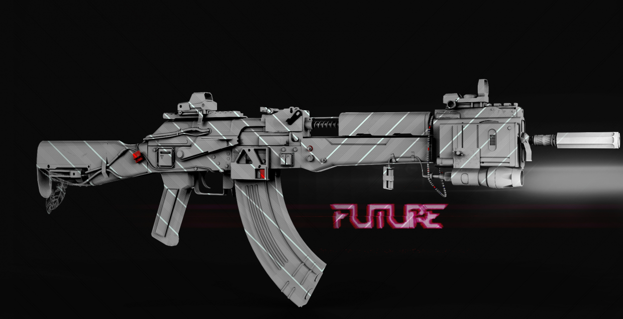 ak 47 in 3d max Other Bild