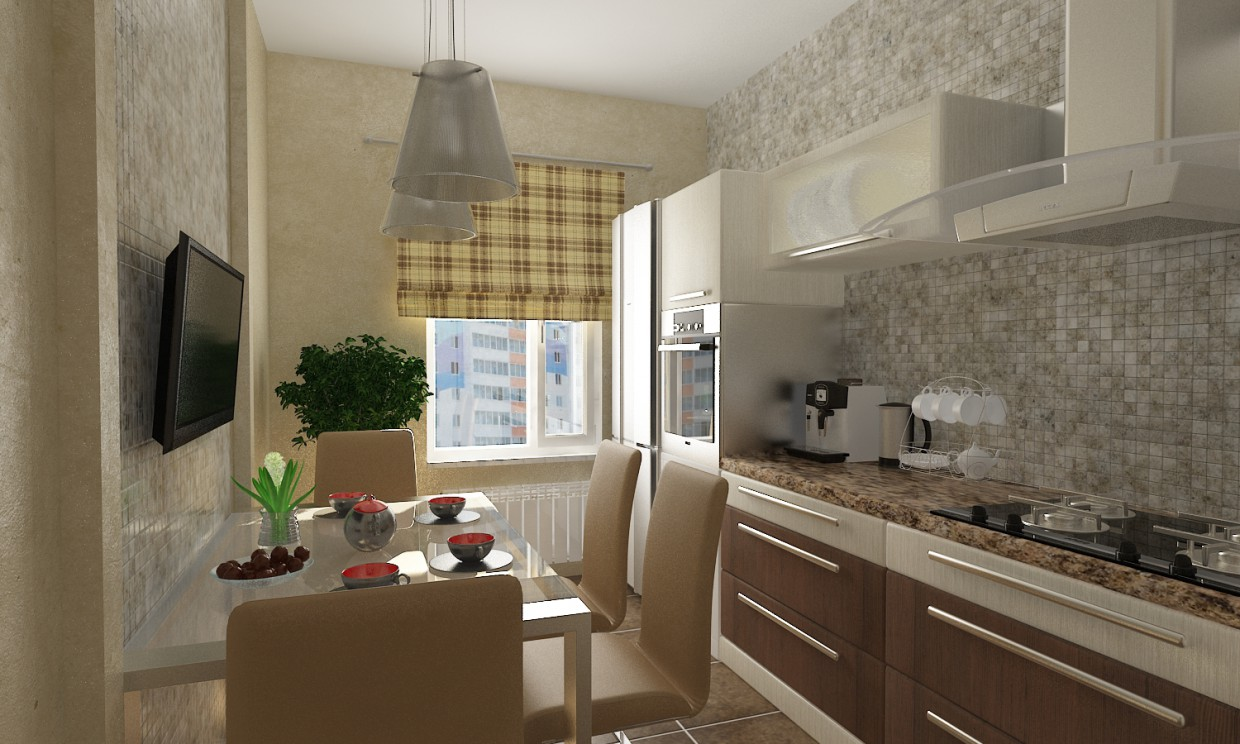 3d visualization of the project in the Modern Kitchen 3d max, render vray 2.0 of Safaraliyev Orxan