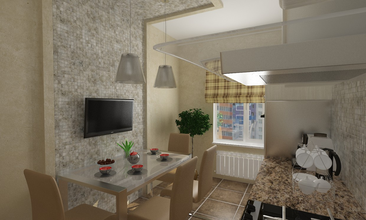 Modern Kitchen in 3d max vray 2.0 image