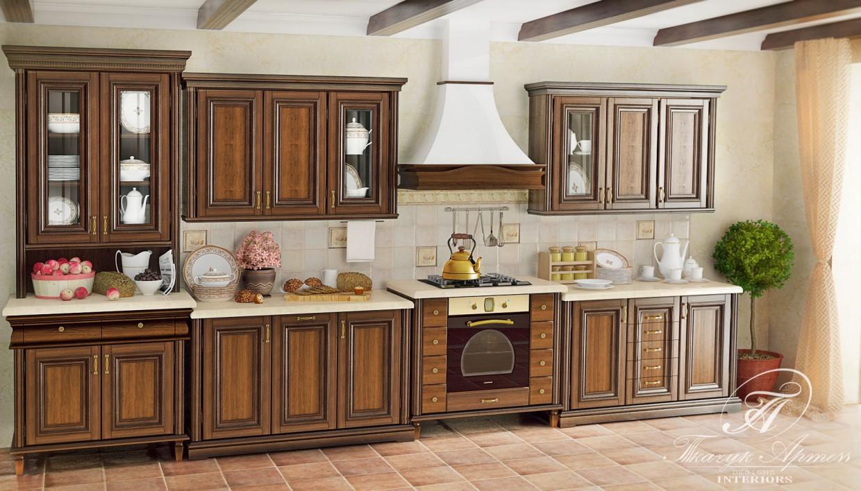 3d визуализация проекта кухня в 3d max, рендер vray от art23051988