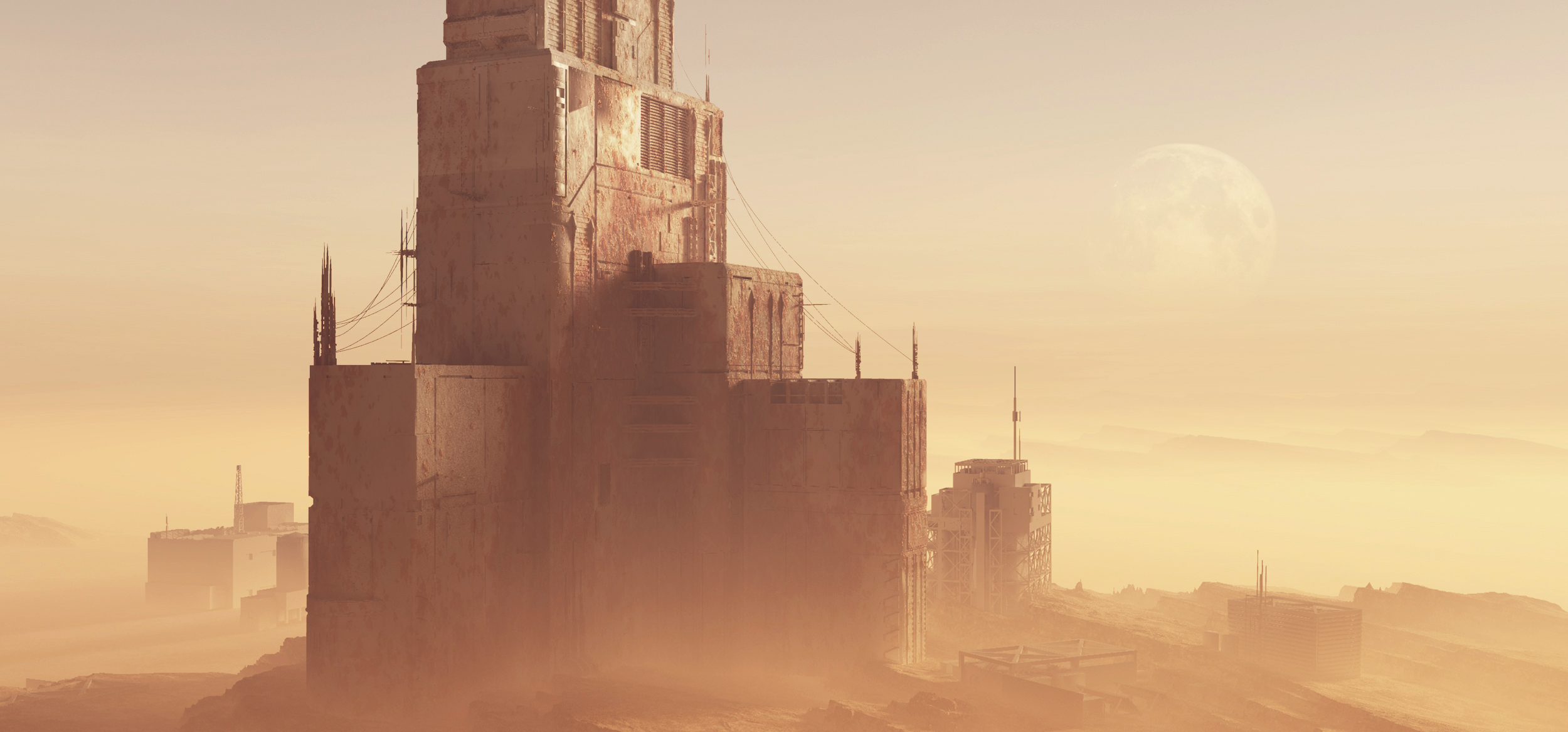 Sci Fi environment. in 3d max vray 3.0 image