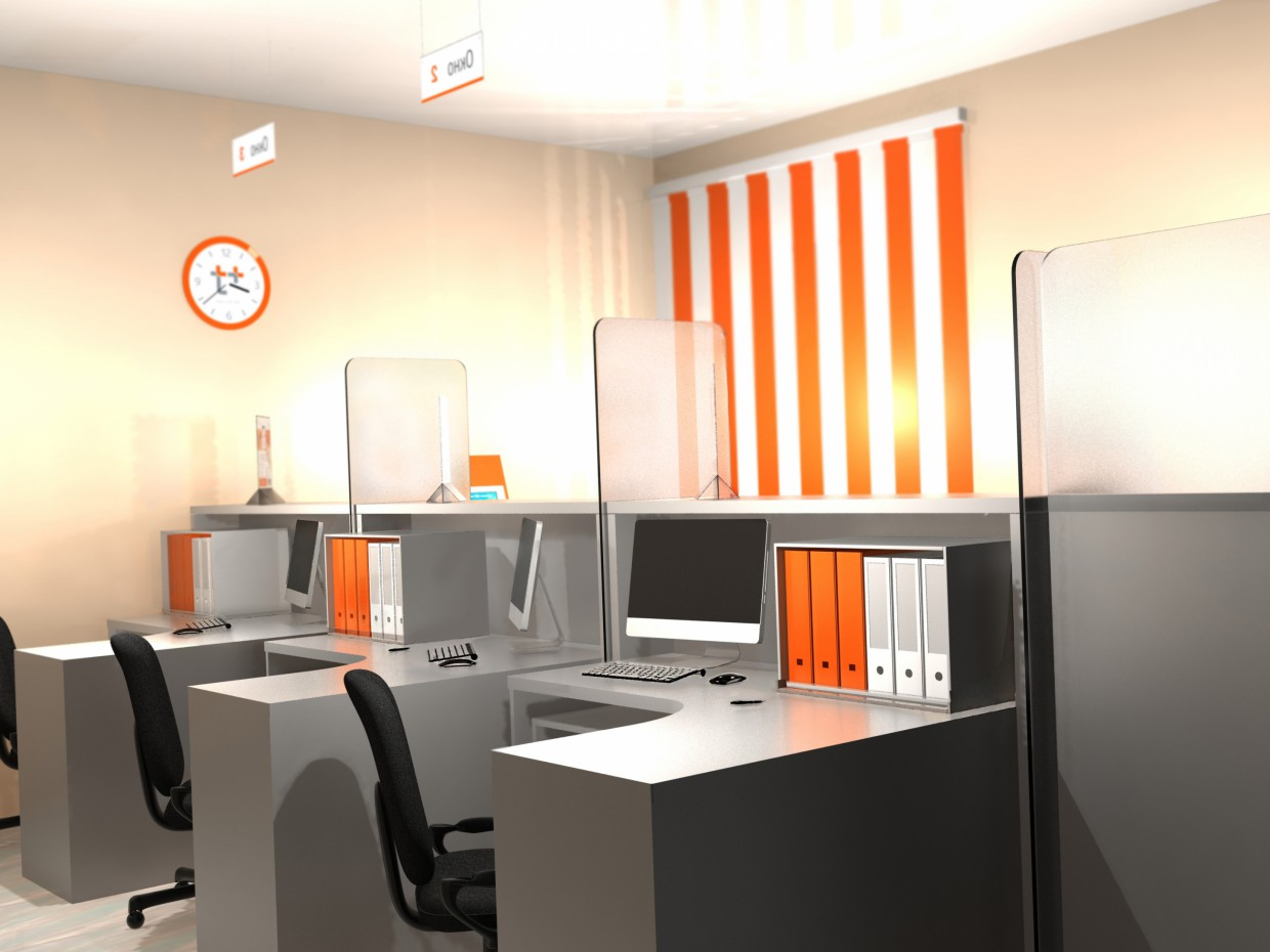 Mini Office in 3d max mental ray image