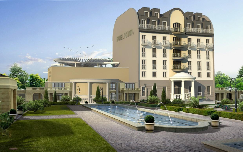 Отель 'Poiana' в 3d max vray изображение