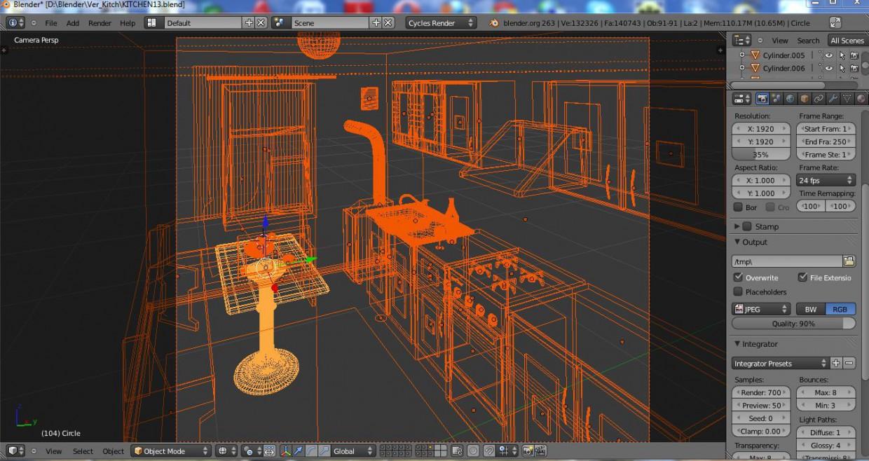 Home Kitchen в Blender Other изображение
