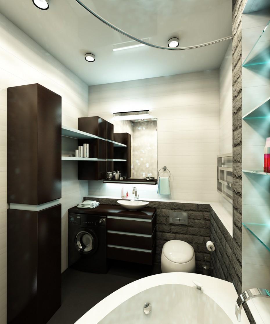 Туалет с джакуззи в 3d max vray изображение