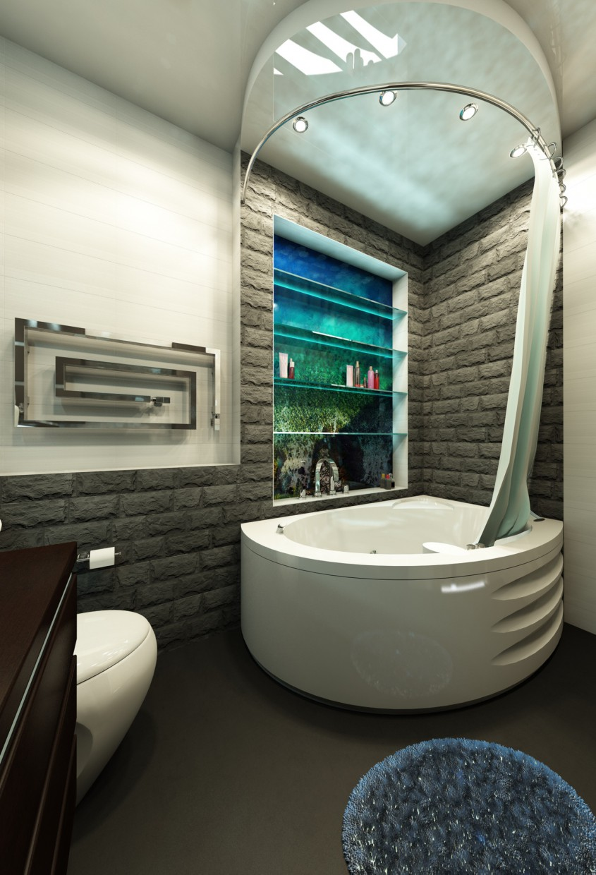 TOILET with Jacuzzi in 3d max vray image
