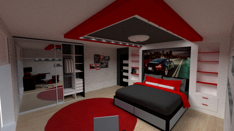 A bedroom for the boy. in SketchUp vray 2.0 image