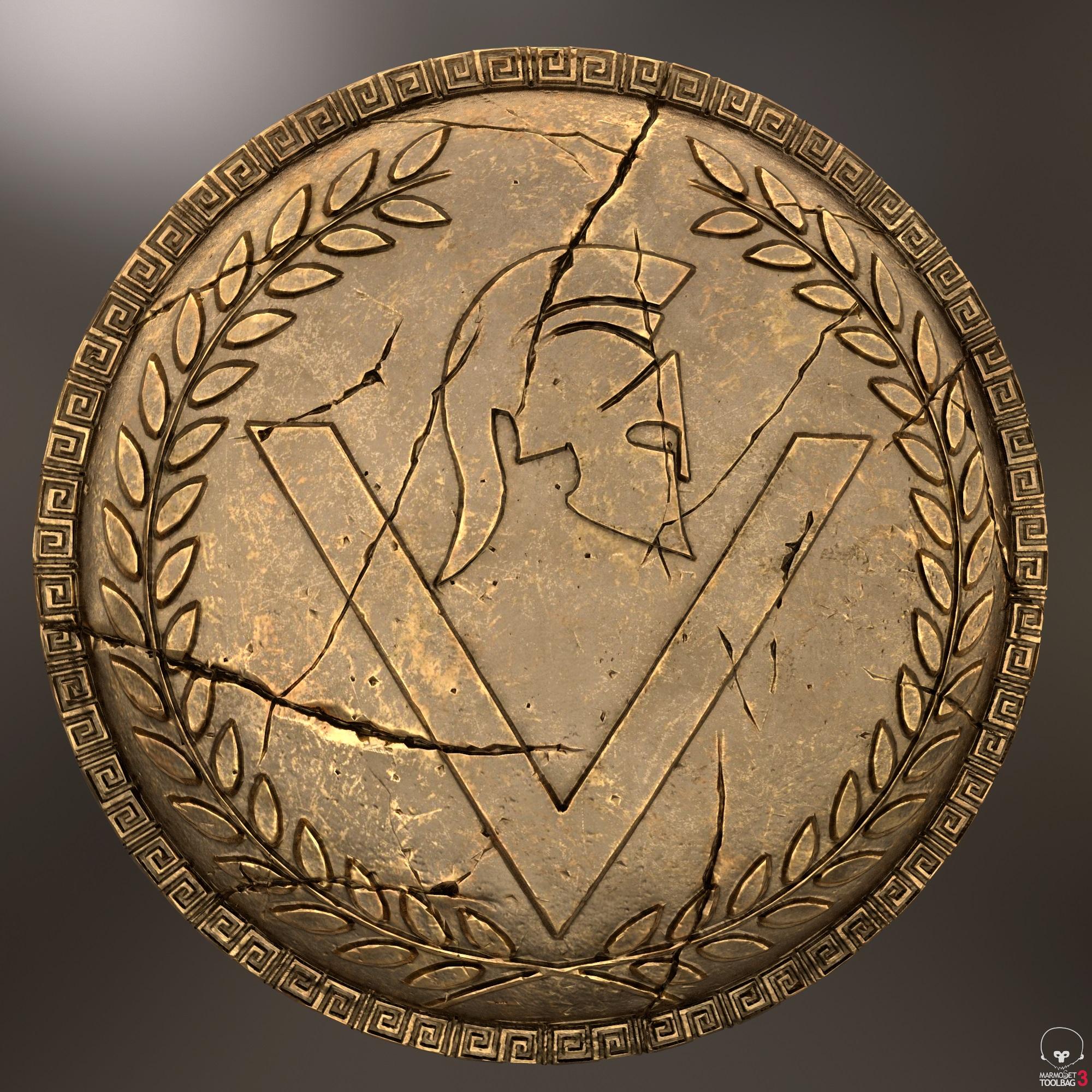 यूनानी योद्धा का कवच 3d max Other में प्रस्तुत छवि