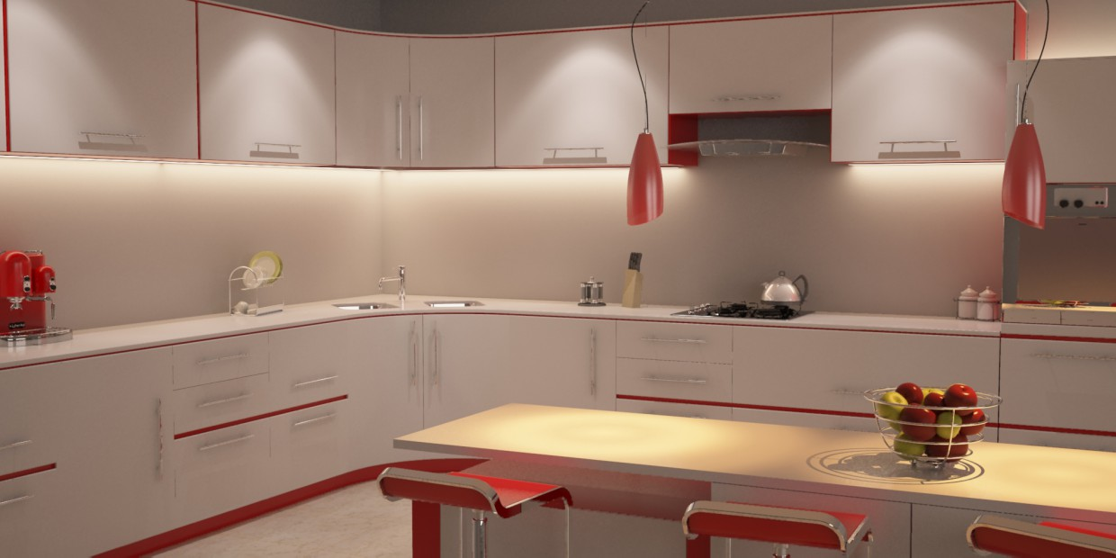 Kitchen2 in 3d max vray image
