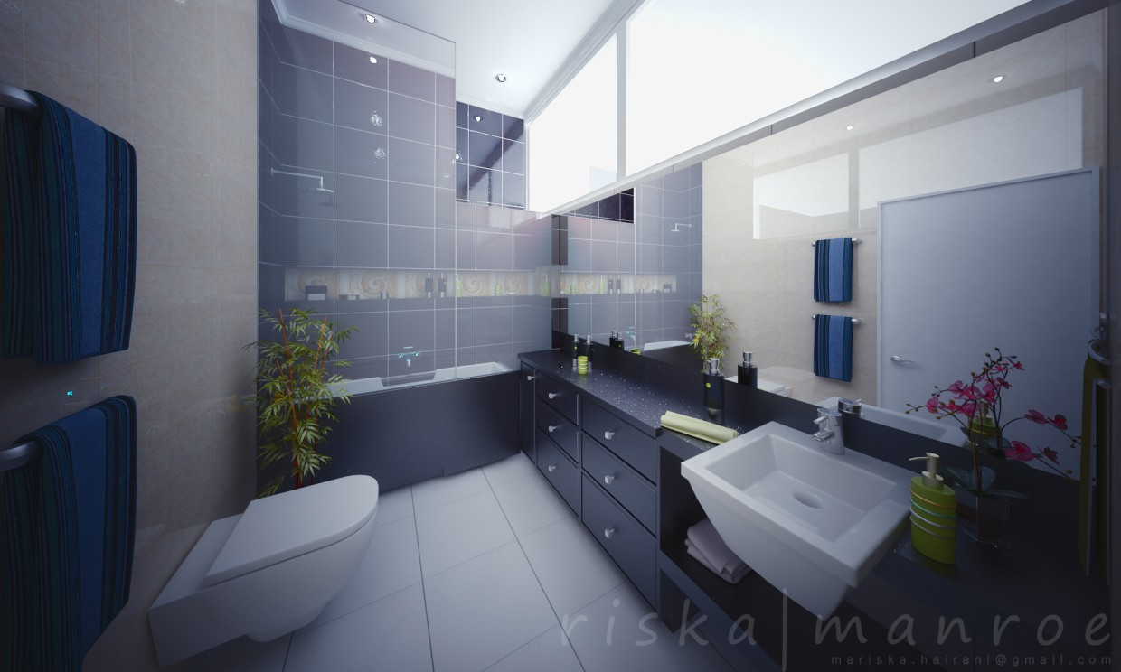 3d visualization of the project in the Bathroom 3d max, render vray of riska.manroe