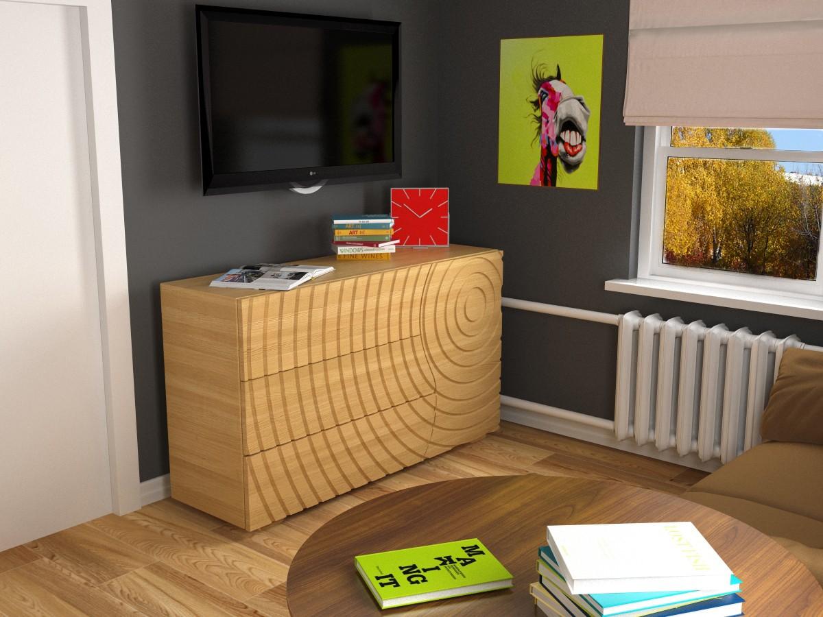 Маленькая комната в 3d max vray изображение