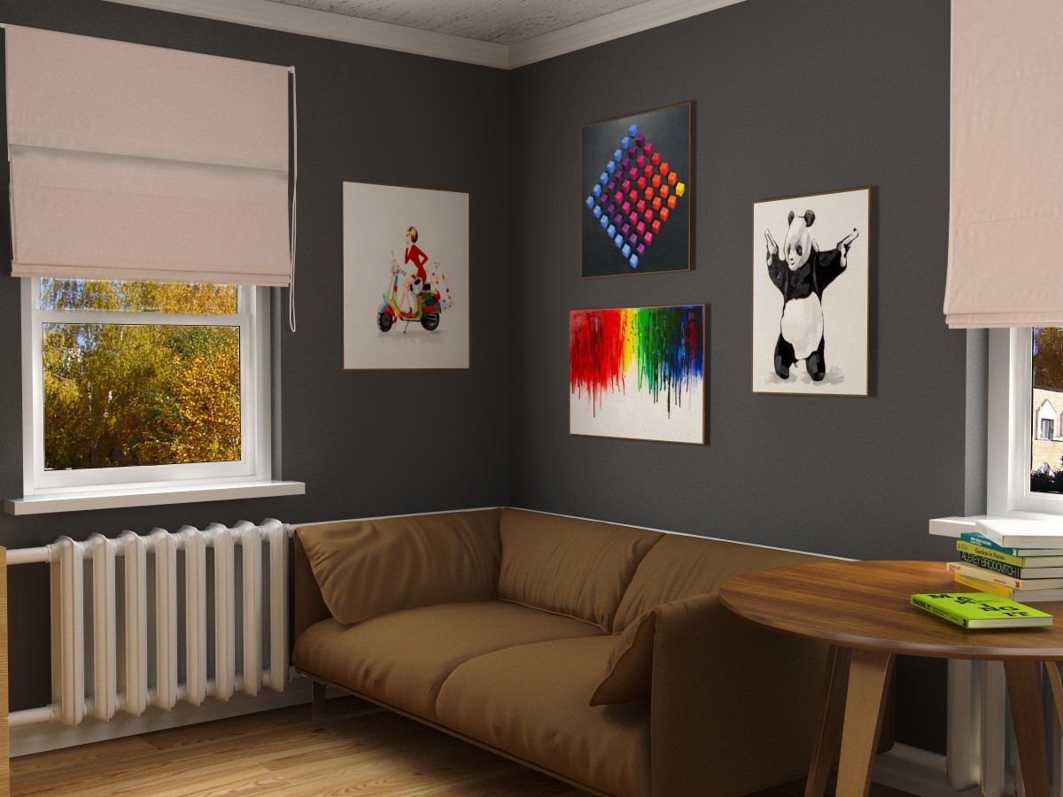 Small room in 3d max vray image
