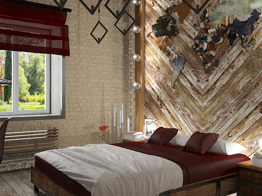 Bedroom in 3d max vray 3.0 image