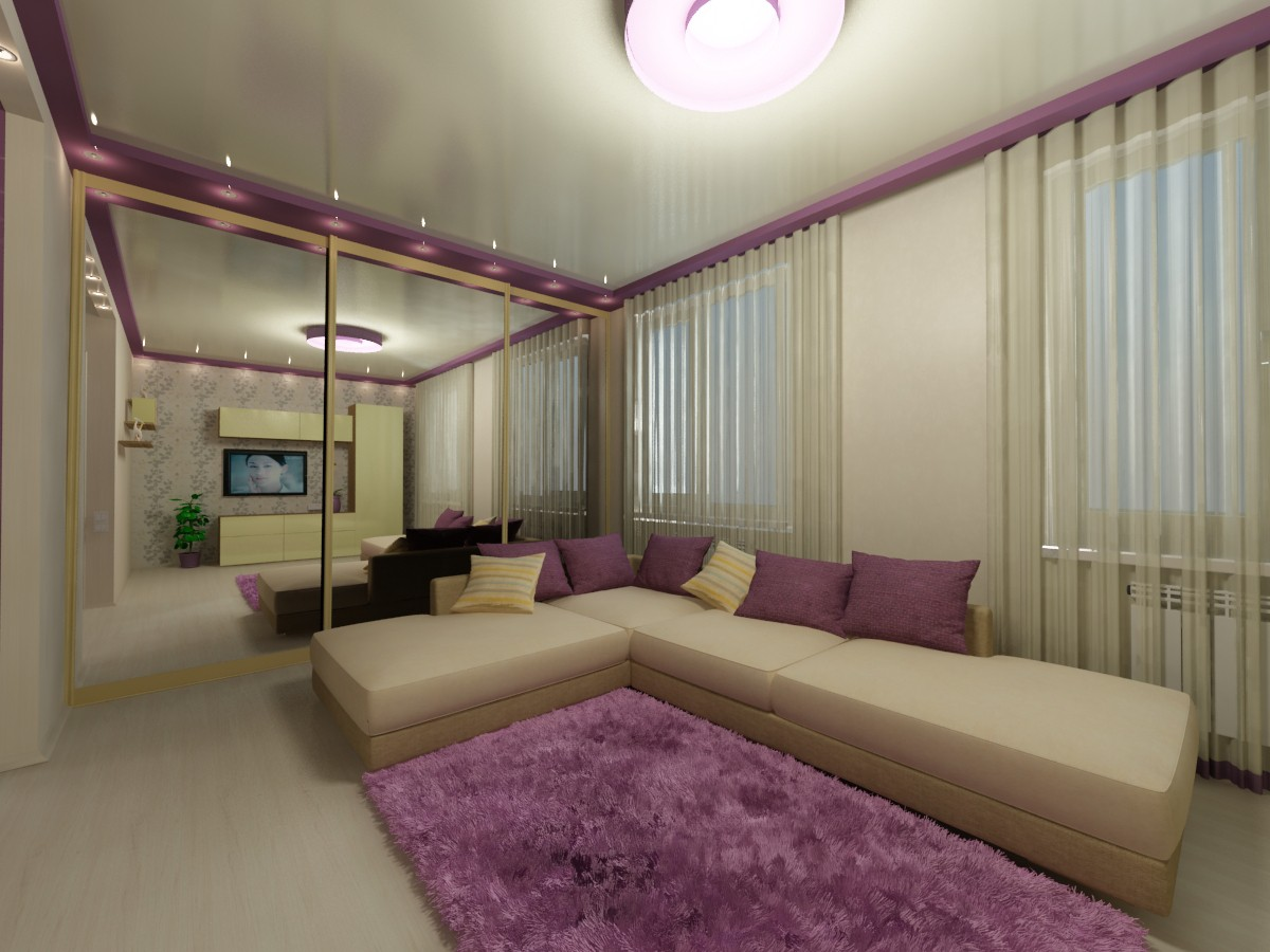 3d visualization of the project in the The apartment is 30 square meters 3d max, render vray of Лиля