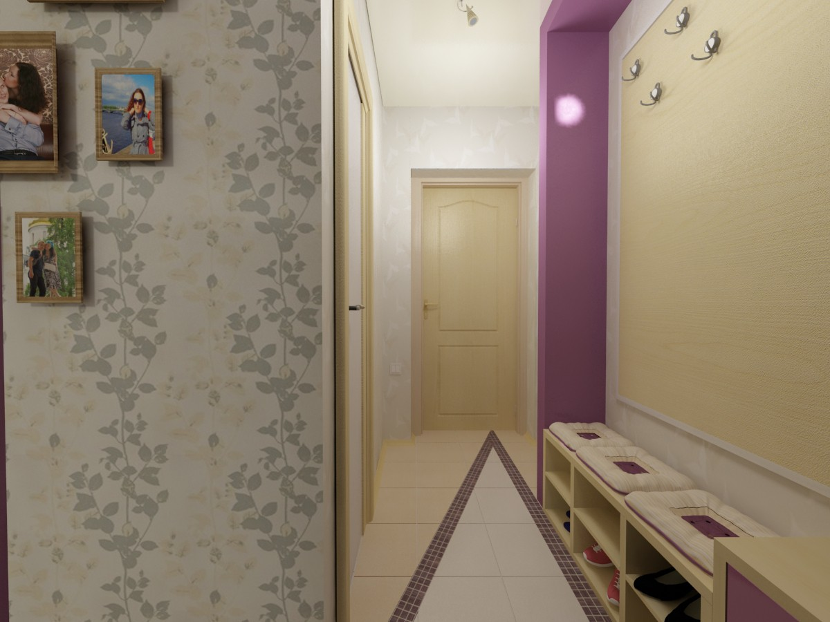 The apartment is 30 square meters  in  3d max   vray  image