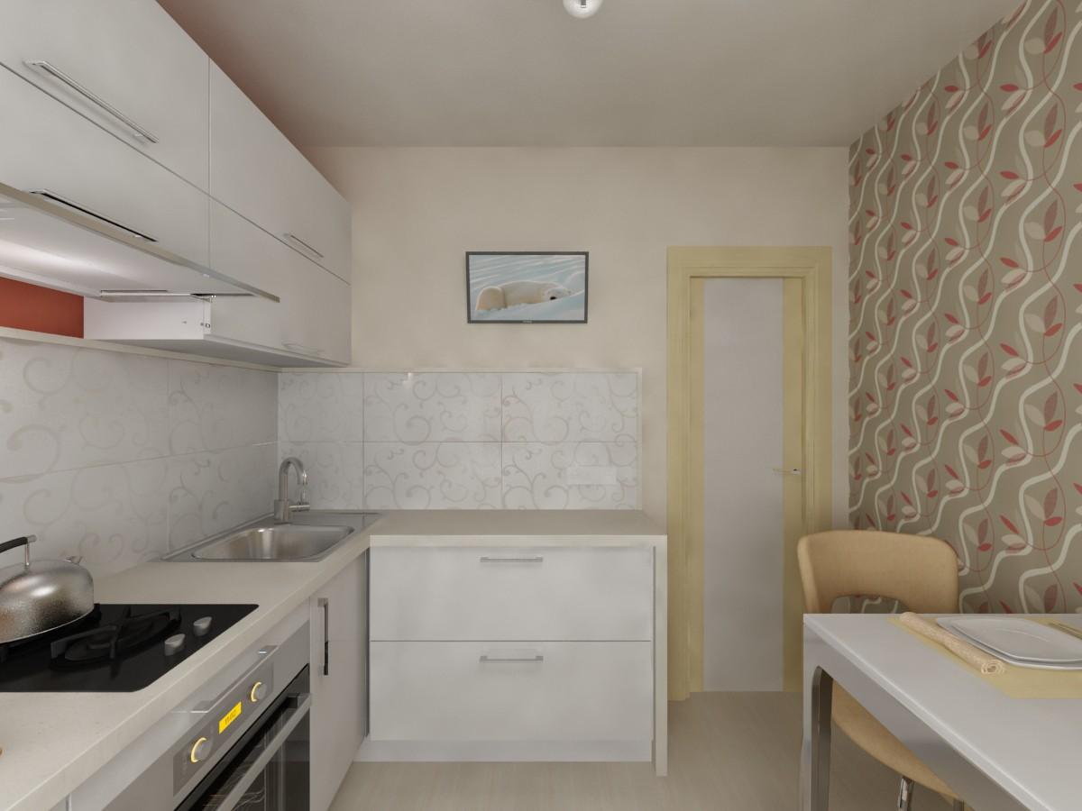 Квартира 30 м.кв в 3d max vray изображение