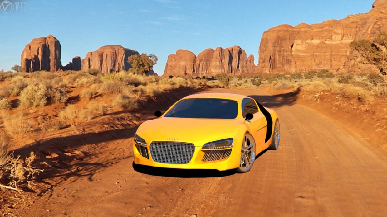 Audi in 3d max vray image