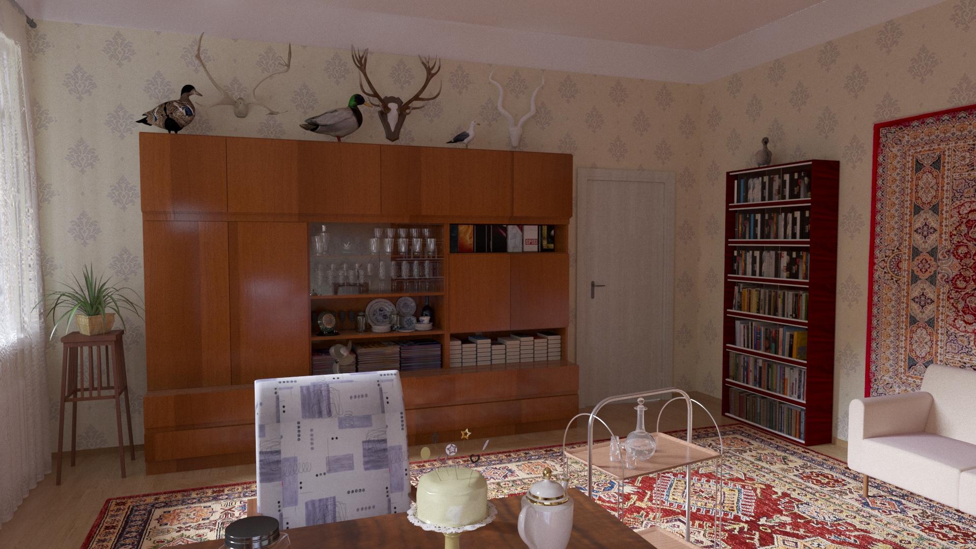 Soviet interior in 3d max corona render image