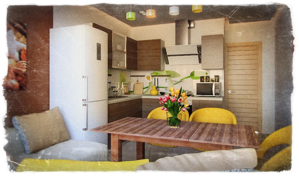 Кухонька в 3d max corona render изображение