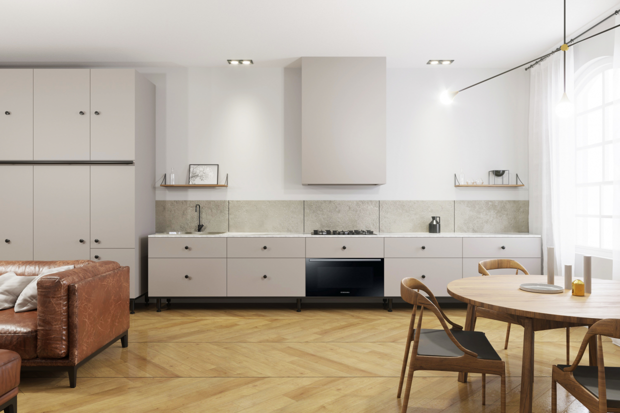Kitchen in Blender corona render image