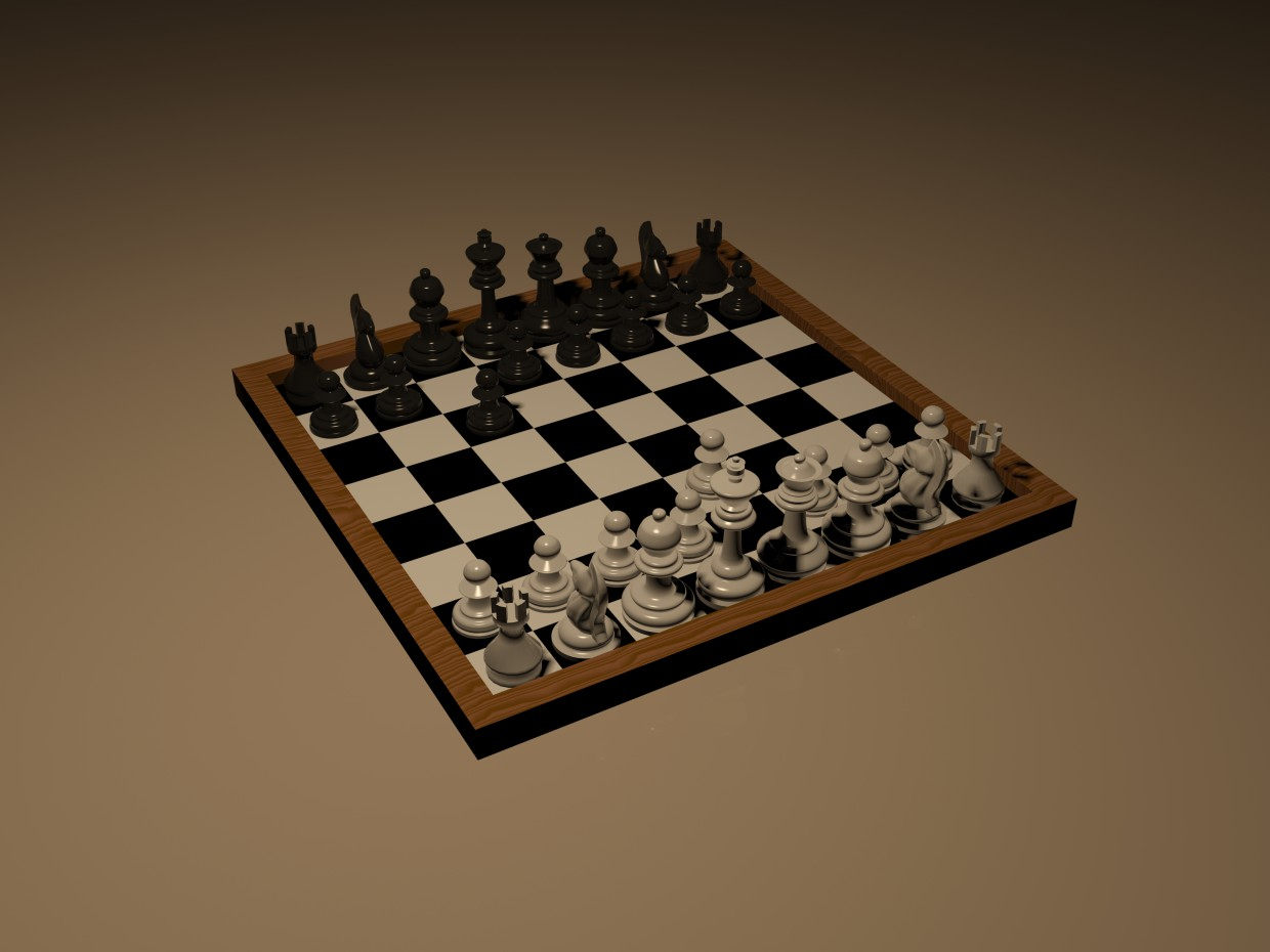 Chess in 3d max mental ray image