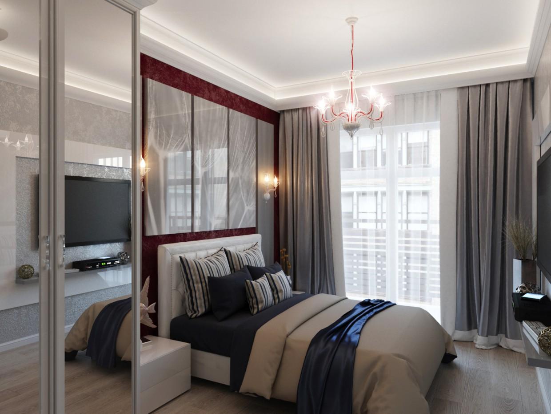 Спальня_соврем. в 3d max corona render изображение